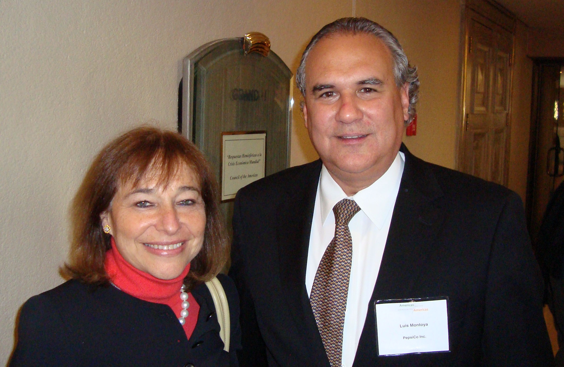 Susan Segal - CEO Council of Americas y Luis Montoya - Presidente PEPSICO